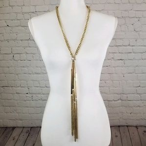 Unique Chain Waterfall Lariat Necklace